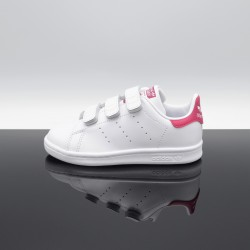 ADIDAS Stan Smith Blanc/Rose Enfant B32706