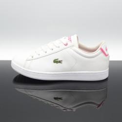 LACOSTE Carnaby Evo Blanc/Rose Femme/Junior 7-37SUJ0012B53