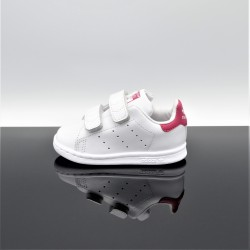 ADIDAS Stan Smith Blanc/Rose Bébé BZ0523