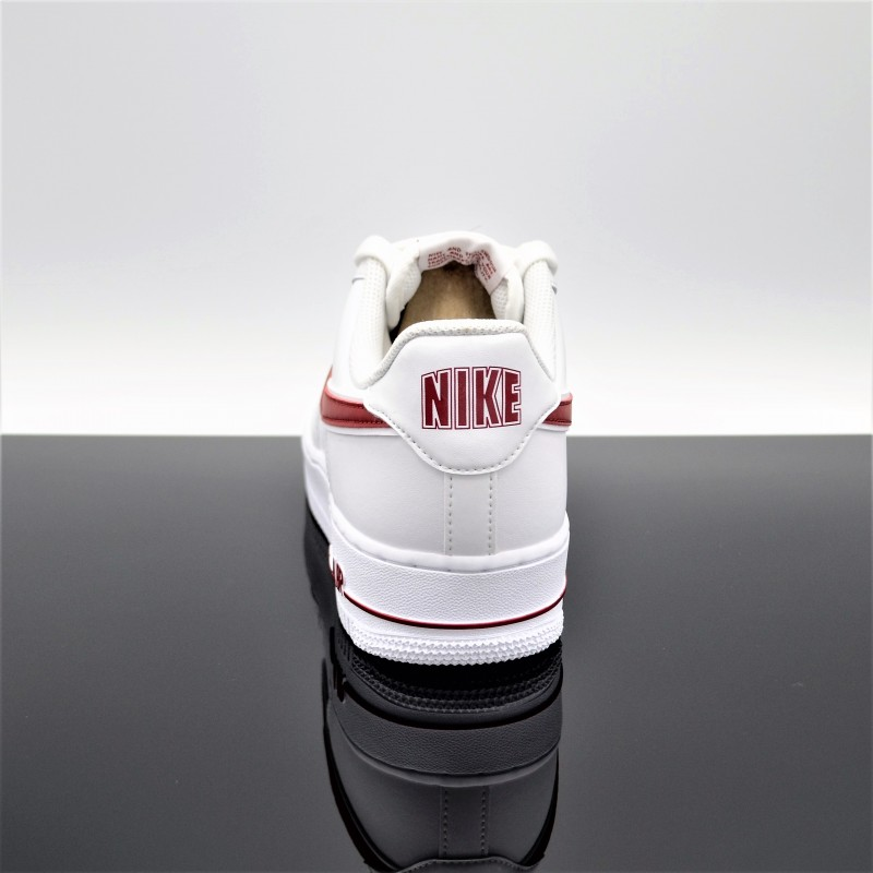 chaussures de sport abfd0 0de51 NIKE Air Force 1 Blanc/Rouge Adulte AO2423-102 - OK Sport Lyon