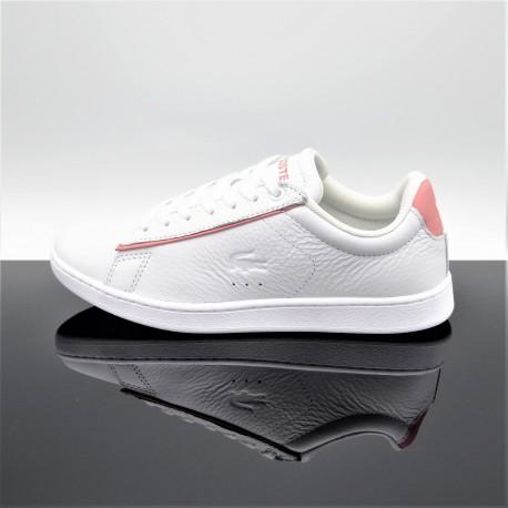 LACOSTE Carnaby Evo 319 Blanc/Rose Femme/Junior 7-38SFA0035B53
