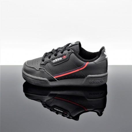 ADIDAS Continental 80 Noir/Rouge Enfant G28214