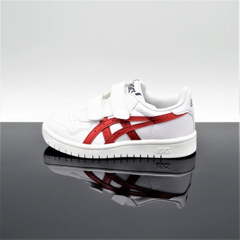 ASICS Japan S Blanc/Rouge Enfant 1194A077-101 - Ok Sport Lyon