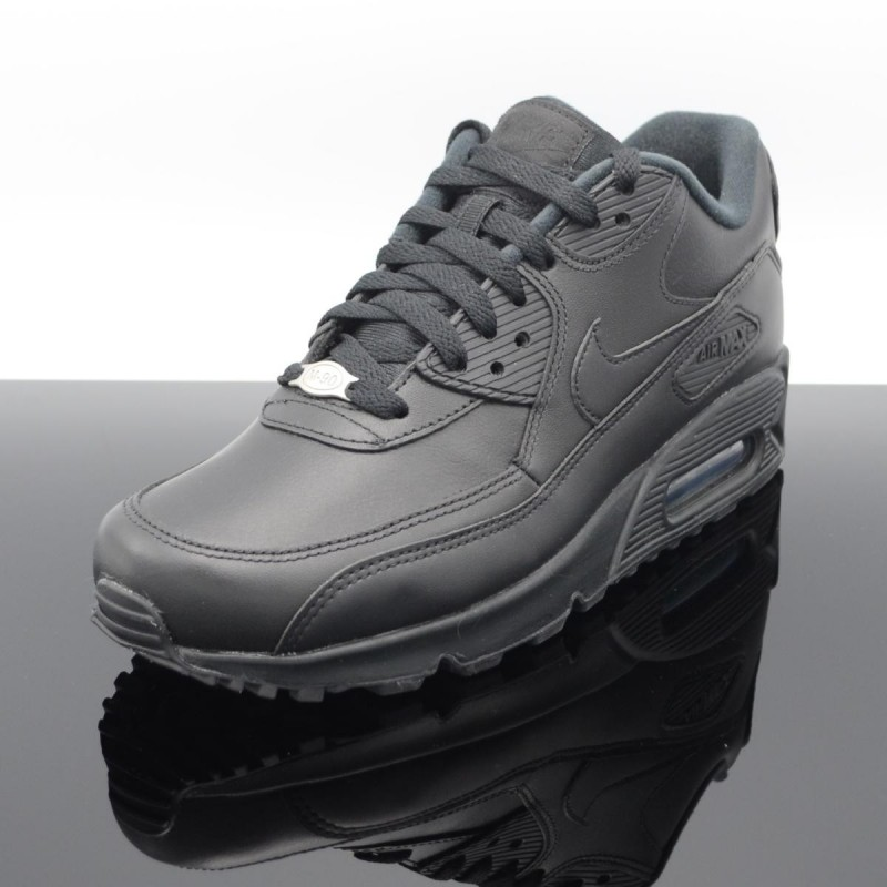 huge selection of 11340 a491a ... NIKE Air Max 90 Leather Noir Homme 302519-001 ...